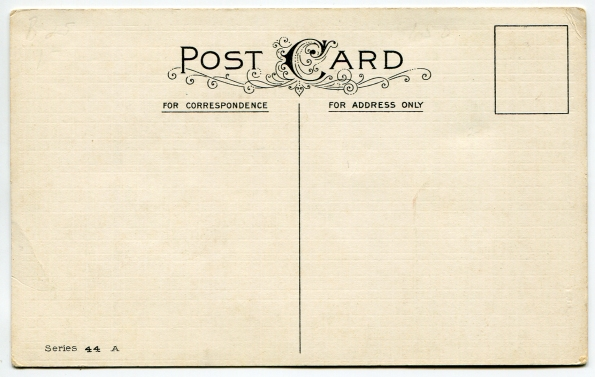 33 antique post card reverse