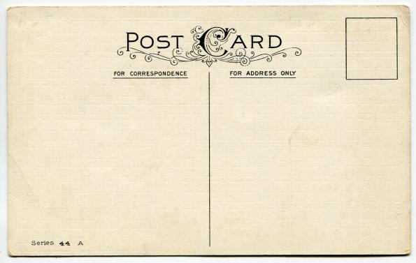33 antique post card reverse