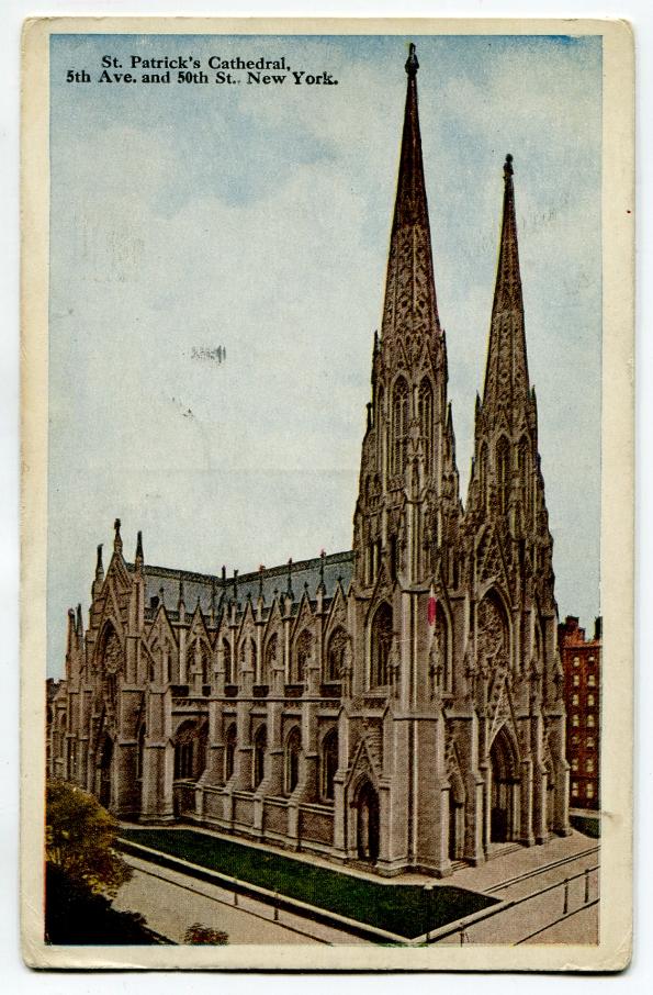 34 antique post card 1921