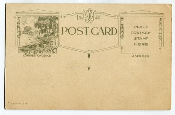 36 antique post card Valentine 1920s reverse