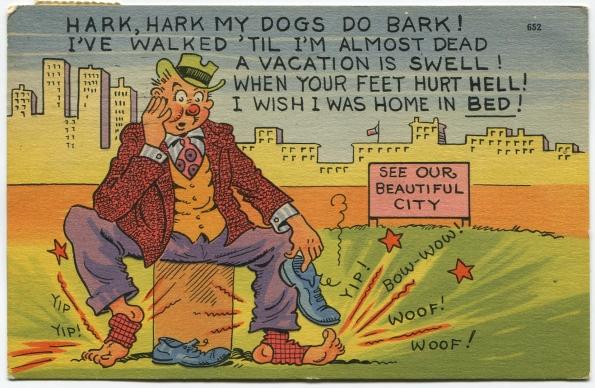 57 antique post card 1951