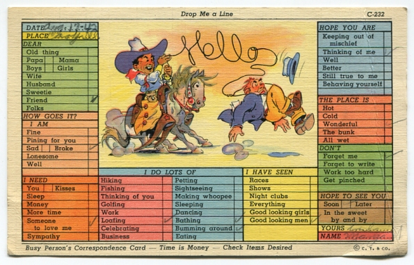 69 antique post card 1942
