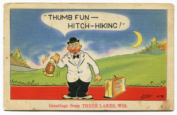 74 antique post card 1944