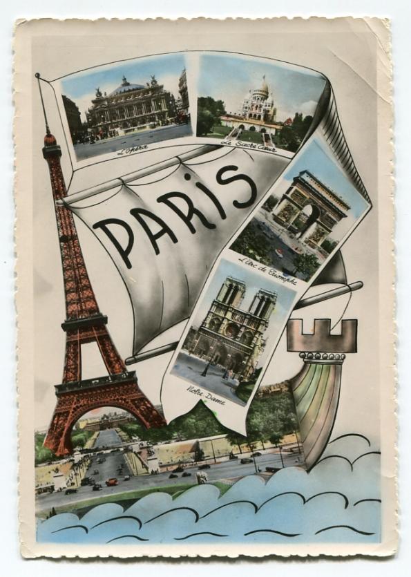 78 antique post card Paris photograph