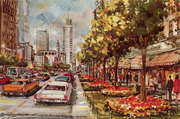 Postcard Bora Yovanovich Chicago painting