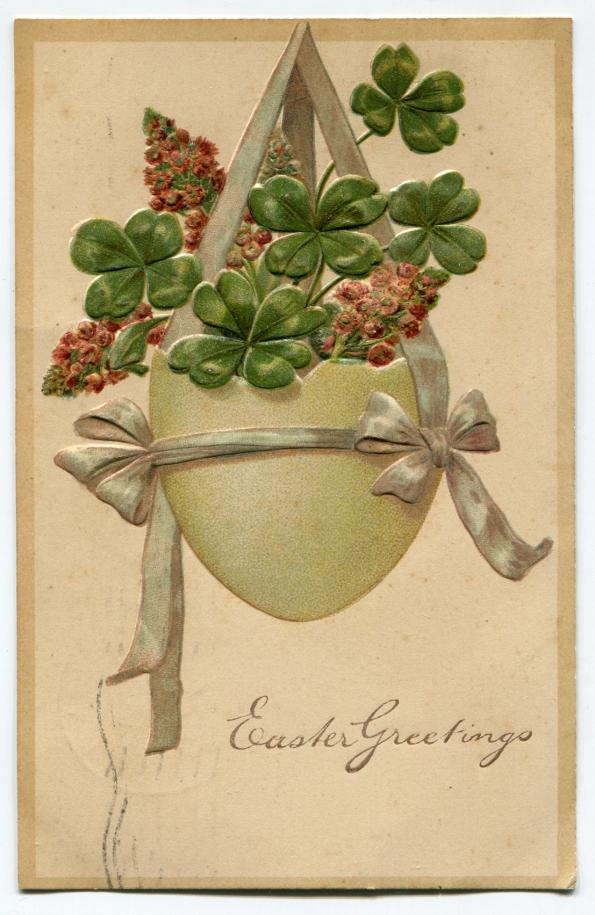 87 antique postcard Easter 1908