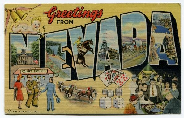 89 antique postcard 1947