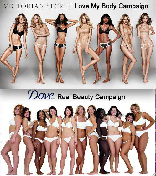 Dove ad comparison 2012