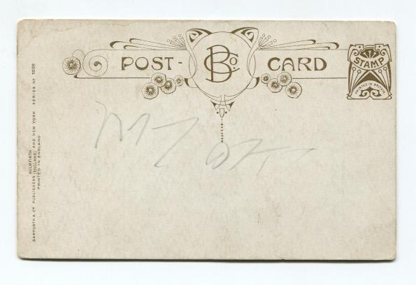 114 antique postcard back 1938