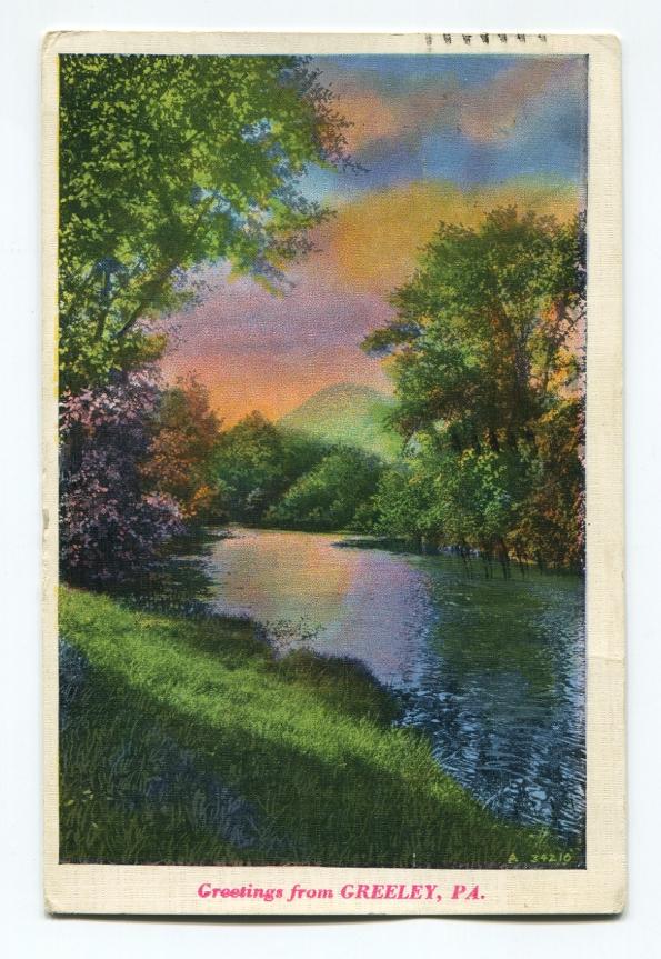 116 antique postcard 1938