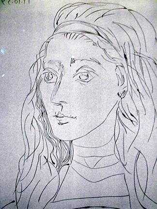 Picasso-Jacqueline-1959-detail