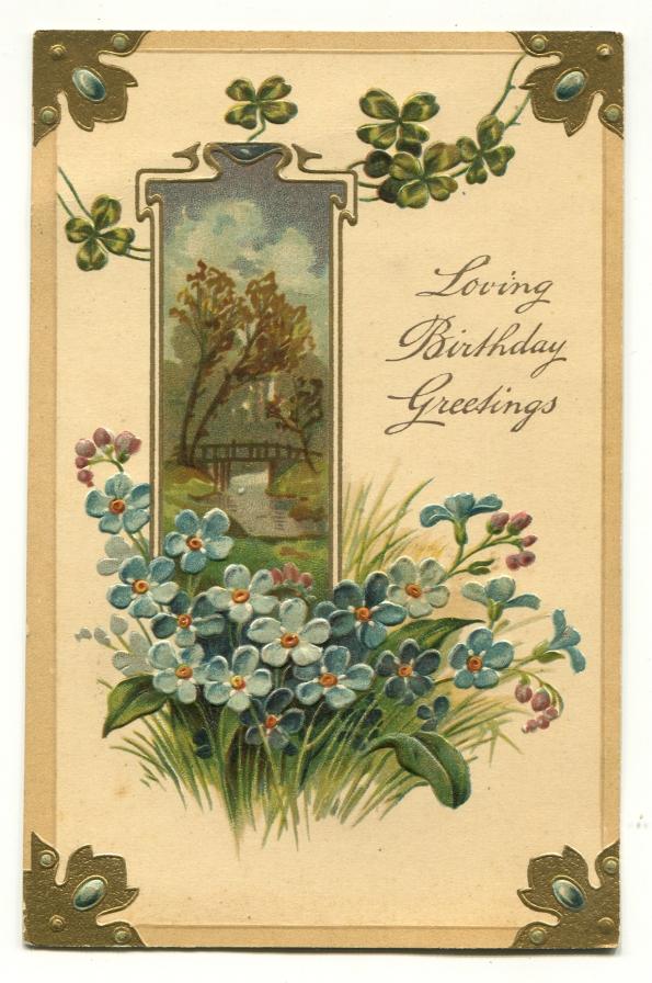 129 antique postcard