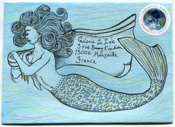 Mail Art Mermaid 300