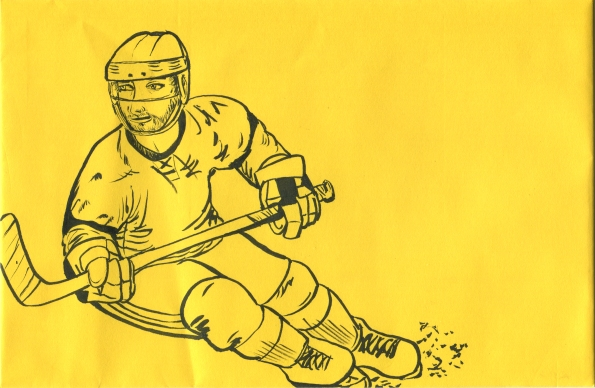 Mail Art Hockey Player 2014