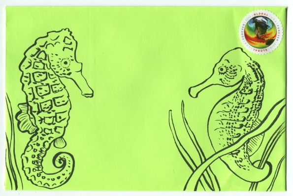 Mail Art Seahorses 2014