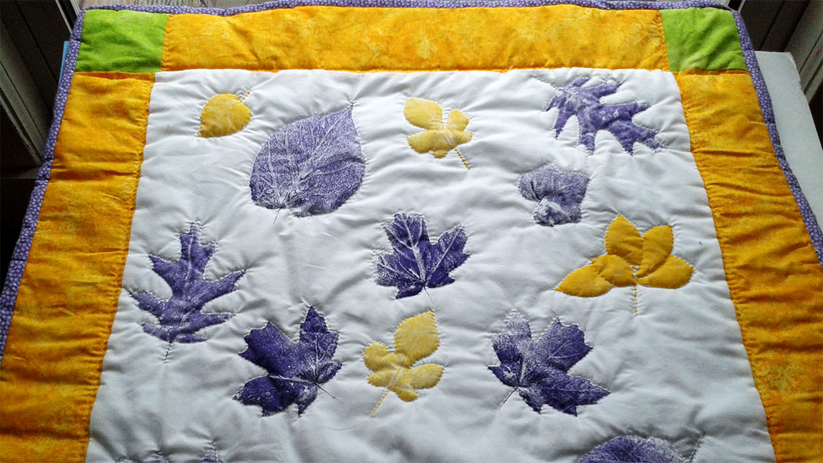 How To Print Leaves Onto Quilting Fabric Shellie Lewis Blog