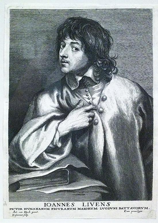 Jan Lievens by Lucas Emil Vorsterman 1530 to 1545