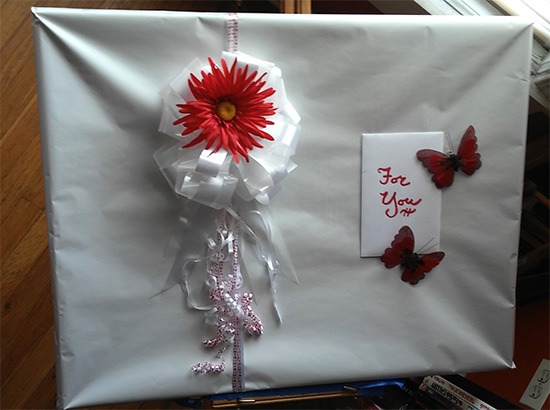 wrapped-wedding-gift-painting